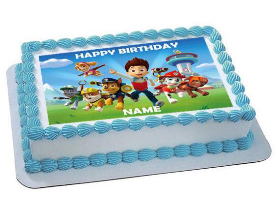 Cialda per torta personalizzata Paw Patrol