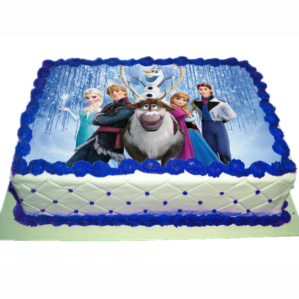 cialda per torta personalizzata Frozen